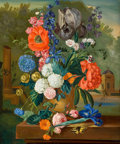 Fine Art - Painting, American:Contemporary   (1950 to present)  , Lutchens (American, 20th Century). Floral Still Life. Oil oncanvas . 24 x 19-3/4 inches (61.0 x 50.2 cm). Signed lower ...