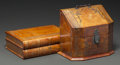 Decorative Arts, Continental, Two Embossed Leather Boxes, 20th century. 3-5/8 x 11-1/8 x 8-5/8inches (9.2 x 28.3 x 21.9 cm). ... (Total: 2 Items)