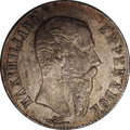 Mexico: , Mexico: Maximilian Peso 1866-Pi, KM-388.2, the much scarcer issue,Choice AU with excellent old gray toning. So pretty is looksUnci...