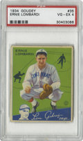 Baseball Cards:Singles (1930-1939), 1934 Goudey Ernie Lombardi #35 PSA VG-EX 4. The Hall of Fame Reds catcher assumes his professional pose upon this solid exa...