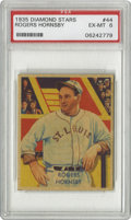 Baseball Cards:Singles (1930-1939), 1935 Diamond Stars Rogers Hornsby #44 PSA EX-MT 6. A great image ofthis HOF member of the St. Louis Cardinals. Strong hig...