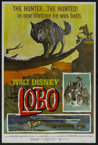 """The Legend of Lobo (Buena Vista, R-1972). One Sheet (27"""" X 41""""). Adventure. Narrated by Rex Allen and featurin..."""