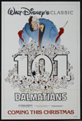 "Movie Posters:Animated, One Hundred and One Dalmatians (Buena Vista, R-1985). One Sheet(27"" X 41"") Advance. Animation. Starring the voices of Rod T..."