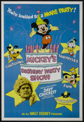 "Movie Posters:Adventure, Mickey's Birthday Party Show (Buena Vista, 1978). One Sheet (27"" X 41""). This was a re-release package for Disney's very pop..."