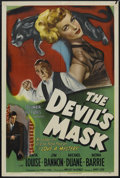 "Movie Posters:Crime, The Devil's Mask (Columbia, 1946). One Sheet (27"" X 41""). Crime.Starring Anita Louise, Jim Bannon, Michael Duane, Mona Barr..."
