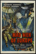 "Movie Posters:War, Mad Men of Europe (Columbia, 1939). One Sheet (27"" X 41""). War.Starring Edmund Gwenn, Mary Maguire, Geoffrey Toone and Rich..."
