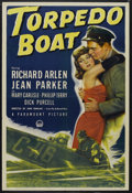 "Movie Posters:War, Torpedo Boat (Paramount, 1942). One Sheet (27"" X 41""). War.Starring Richard Arlen, Jean Parker, Mary Carlisle and Phillip T..."