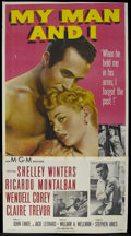 "Movie Posters:Drama, My Man and I (MGM, 1952). Three Sheet (41"" X 81""). Drama. Starring Shelley Winters, Ricardo Montalban, Wendell Corey, Claire..."