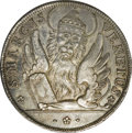 Italy: , Italy: Venice. Alviso Mocenigo IV Silver Osella 1774 GMB, Paolucci257, lovely toned AU. Obverse: Lion of St. Mark; Reverse legend:...