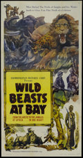 """Movie Posters:Documentary, Wild Beasts at Bay (Cosmopolitan, 1947). Three Sheet (41"""" X 81""""). Documentary. This three sheet has a few fold separations w..."""