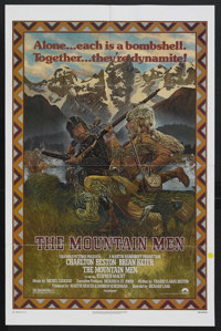 "The Mountain Men (Columbia, 1980). One Sheet (27"" X 41""). Western. Starring Charlton Heston, Brian Keith, Vict..."