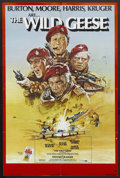 "Movie Posters:War, The Wild Geese (Allied Artists, 1978). One Sheet (27"" X 41"").Action. Starring Richard Burton, Roger Moore, Richard Harris a..."