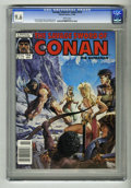 Magazines:Miscellaneous, Savage Sword of Conan #154 (Marvel, 1988) CGC NM+ 9.6 White pages.Joe Jusko cover. Overstreet 2004 NM- 9.2 value = $6; CGC ...