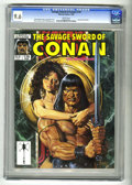 Magazines:Superhero, Savage Sword of Conan #170 (Marvel, 1990) CGC NM+ 9.6 White pages.King Kull portfolio. Joe Jusko cover art. Al Williamson i...