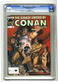 Magazines:Miscellaneous, Savage Sword of Conan #174 (Marvel, 1990) CGC NM/MT 9.8 Whitepages. Overstreet 2004 NM- 9.2 value = $6; CGC census 3/05: 1 ...