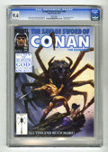 Magazines:Miscellaneous, Savage Sword of Conan #183 (Marvel, 1991) CGC NM+ 9.6 White pages.Doug Beekman cover. Ernie Chan art. King Kull backup feat...