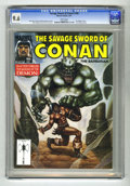 Magazines:Miscellaneous, Savage Sword of Conan #185 (Marvel, 1991) CGC NM+ 9.6 White pages.Ernie Chan and Dan Adkins art. Ovi Hondru cover. Overstre...