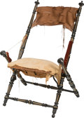 Furniture : English, An American Aesthetic Movement Folding Chair, in the Manner of Pierre J. Hardy, New York region, late 19th century. 37-1/2 h... (Total: 2 Items)