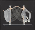 Fine Art - Work on Paper, Erté (Romain de Tirtoff) (Russian/French, 1892-1990). Love andPassion Suite: The Marriage Dance & Kiss of Fire (twowor... (Total: 2 Items)