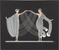 Erté (Romain de Tirtoff) (Russian/French, 1892-1990) Love and Passion Suite: The Marriage Dance & Kiss of...