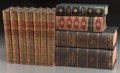 Decorative Arts, Continental, An Assorted Group of Eleven Decorative Leather and ClothboundBooks. ... (Total: 11 Items)