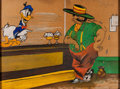 Animation Art:Production Drawing, Word War II Italian POW Donald Duck Original Oil Pastel Drawing, Artist Unknown (1944)....