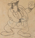 Animation Art:Concept Art, Peg-Leg Pete Studio Drawing (Disney, c. 1940s)...