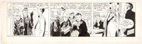 Alex Raymond Rip Kirby Daily Comic Strip Original Art dated 10-8-52 (King Features Syndicate, 1952)