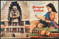 """Samson and Delilah & Other Lot (Paramount, 1949/R-1959). Program (16 Pages, 9"""" X 12""""), Photos (15) (7.75&q..."""