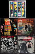 "Movie Posters:James Bond, James Bond Lot (Various, 1960s-1990s). Vinyl Records (10) (12.25"" X12.5""). James Bond.. ... (Total: 10 Items)"