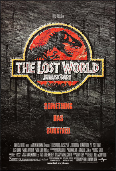 """Jurassic Park II: The Lost World (Universal, 1997). One Sheet (27"""" 