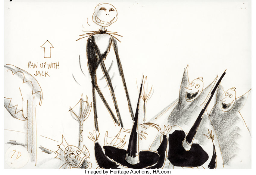 animation artconcept art tim burtons nightmare before christmas jack skellingtonconcept art touchstone - Tim Burtons The Nightmare Before Christmas