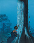 Animation Art:Production Cel, The Jungle Book Production Cel and Key Master PaintedBackground (Walt Disney, 1967)....