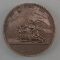 Decorative Arts, French, A Bronze Ascension of the Montgolfier Le Flesselles BalloonCommemorative Medal, 19th century. 1-1/2 inches dia...