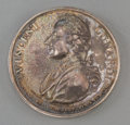 Decorative Arts, British:Other , A Silver Vincent Lunardi First Balloon Flight in EnglandCommemorative Medal, circa 1785. 35 mm diameter. PROVENANCE:.Bon...