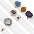 Estate Jewelry:Rings, Multi-Stone, Diamond, Gold Rings. ... (Total: 7 Items)