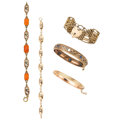 Estate Jewelry:Bracelets, Diamond, Multi-Stone, Gold Bracelets. ... (Total: 5 Items)
