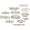 Estate Jewelry:Brooches - Pins, Art Deco Diamond, Enamel, Synthetic Stone, White Gold Brooches. ... (Total: 12 Items)