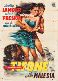 "Movie Posters:Adventure, Typhoon (Lux, 1949). Italian 4 - Fogli (55"" X 77.75""). Adventure....."