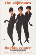 """Movie Posters:Musical, Supremes Concert Poster (1965). Poster (25"""" X 38""""). Rock and Roll.. ..."""