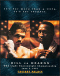 "Movie Posters:Sports, Hill vs. Hearns (Caesar's Palace, 1991). Boxing Poster (22"" X 28""). Sports.. ..."