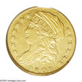 Early Quarter Eagles: , 1808 $2 1/2 AU50 PCGS. Bass-3017, Breen-6125, R.4. From 1795 until1804 the U.S. gold coin of choice for foreign trade was ...