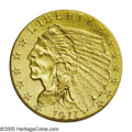 Proof Indian Quarter Eagles: , 1911 $2 1/2 PR66 NGC. After two years' experimentation with theRoman Gold finish found only on proof gold coins of 1909 an...