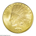 Indian Eagles: , 1913 $10 MS66 PCGS. This is a common date, one of the seven highestmintage Indian Eagles, and yet it is seldom seen in Gem...