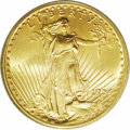 Saint-Gaudens Double Eagles: , 1924 $20 MS68 PCGS. Even though more than $80 million face value in double eagles were struck this year, most were earmarke...
