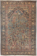 Rugs & Textiles:Hook Rugs, A Mohtashem Kashan Meditation Rug, circa 1890. 6 feet 7-1/2 in.long x 4 feet 4-1/4 in. wide. ...