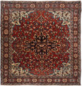 Rugs & Textiles:Hook Rugs, A Sarouk Fereghan Rug, West Persia, circa 1900. 4 feet 10-1/2 in.long x 4 feet 8 in. wide. PROPERTY FROM A PASADENA, CA E...