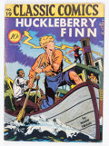Golden Age (1938-1955):Classics Illustrated, Classic Comics #19 Huckleberry Finn - First Edition (Gilberton,1944) Condition: FN....