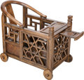 Furniture, A Chinese Rosewood Baby Carriage. 23-3/4 h x 33 w x 15-1/4 d inches (60.3 x 83.8 x 38.7 cm). PROPERTY OF A LADY OF TITLE. ...