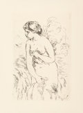 Prints & Multiples, Pierre-Auguste Renoir (French, 1841-1919). Baigneuse, circa 1910. Etching. 6-1/2 x 4-1/2 inches (16.5 x 11.4 cm) (image)...